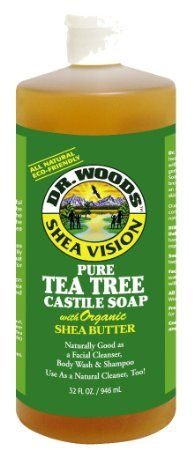Amazon.com: Dr. Woods Pure Tea Tree Castile Soap with Organic Shea Butter, 32 Ounce: Health & Personal Care