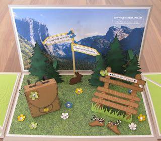 Pensionierung Geschenkbox Explosionsbox Uberraschungsbox Mit Berge