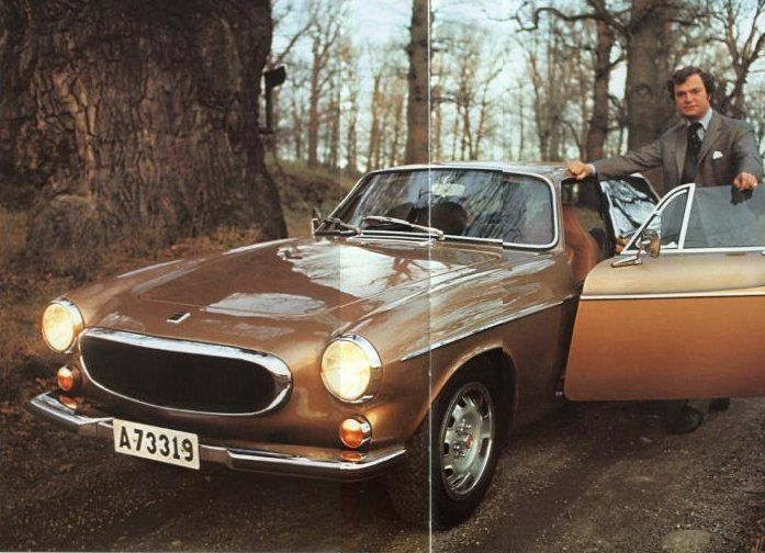 Crown Prince Carl Gustaf With His Volvo P1800 Volvo Car Photos Beautiful Cars