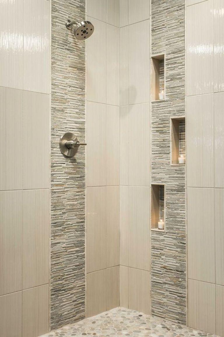 120 Stunning Bathroom Tile Shower Ideas 43 With Images Bathroom Remodel Shower Modern Shower Design Patterned Bathroom Tiles
