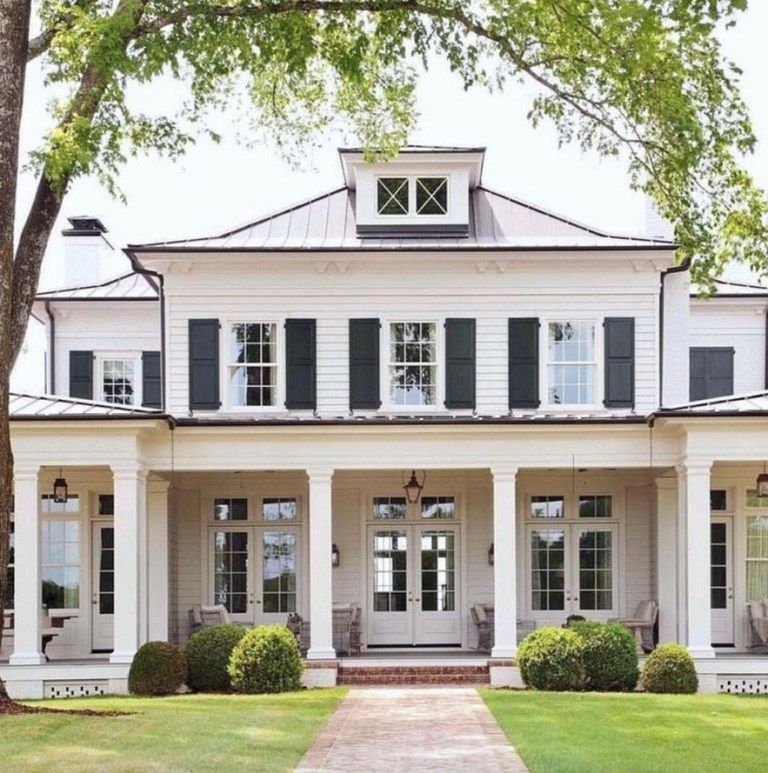 28 Inspiring Farmhouse House Design 1 Fieltro Net House Exterior Dream House Exterior House Styles