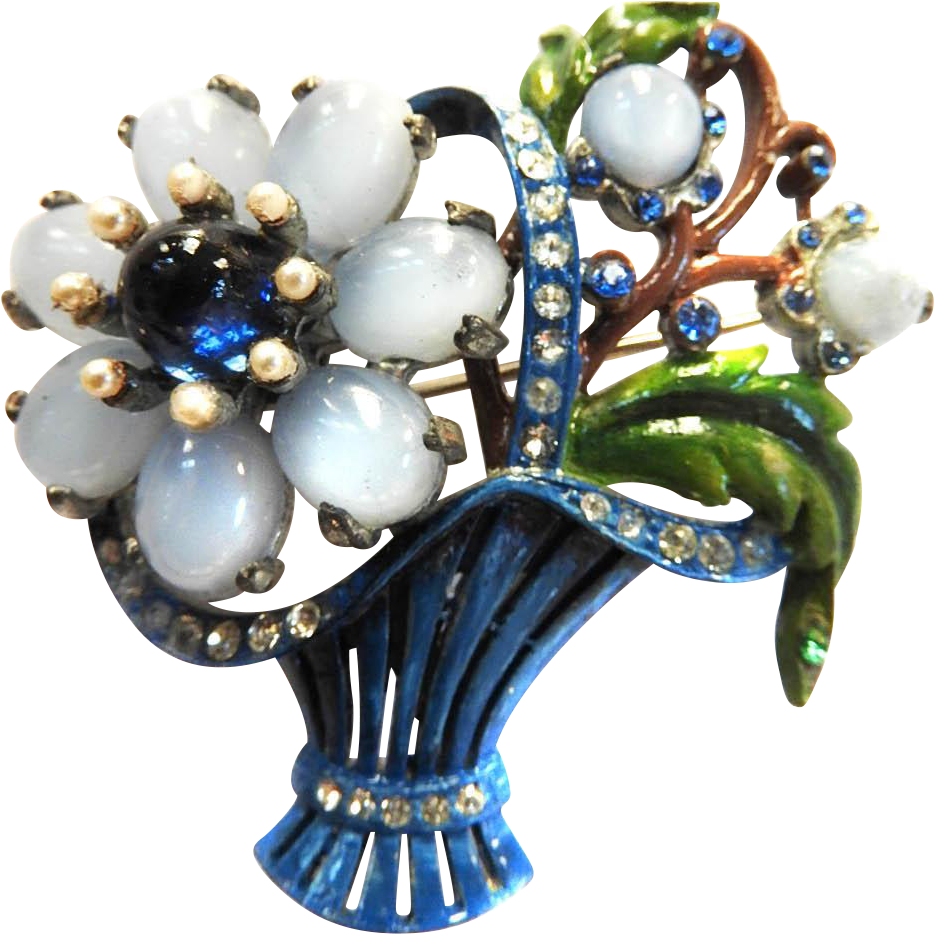 Beautiful flower basket vintage 1940s brooch flower basket beautiful flower basket vintage 1940s brooch izmirmasajfo