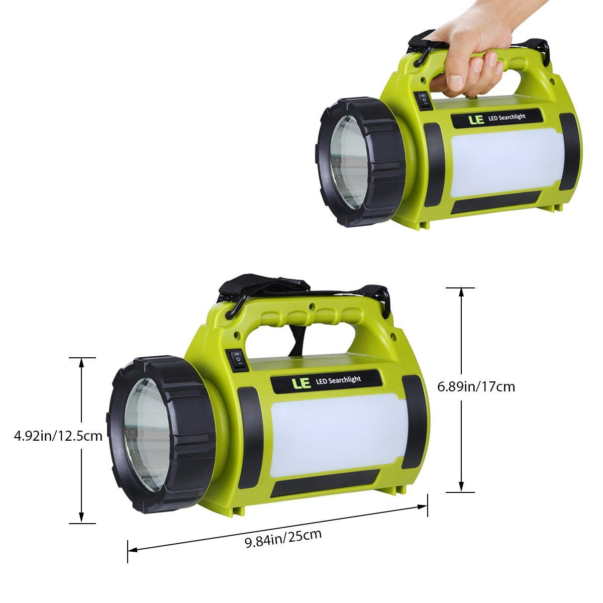 LE Portable Ultra Bright 1000lm Battery LED Lantern Light dimmable Camping lamp