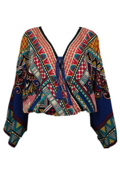Take your styling game to the next level this summer with this boho-print caftan top.