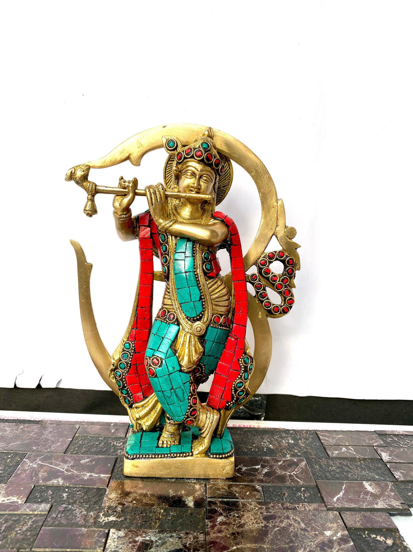 Hindu God Shiva Parvati Sculpture Siva Murti Natraj Wooden Statue Diwali Decor