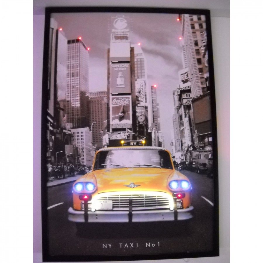 Neonetics Cars and Motorcycle NY Taxi Neon LED Poster - ny