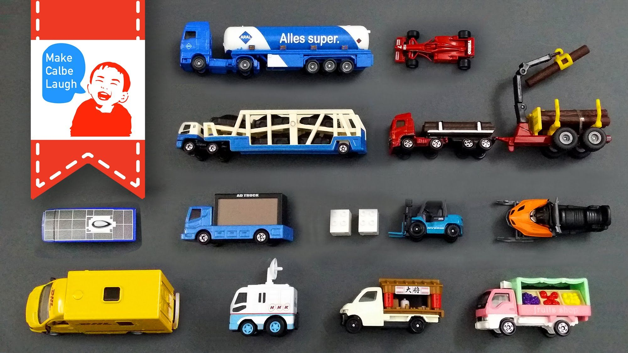 Learning Special Street Vehicles Names and Sounds and more for kids with tomica 2015 siku lego - YouTube