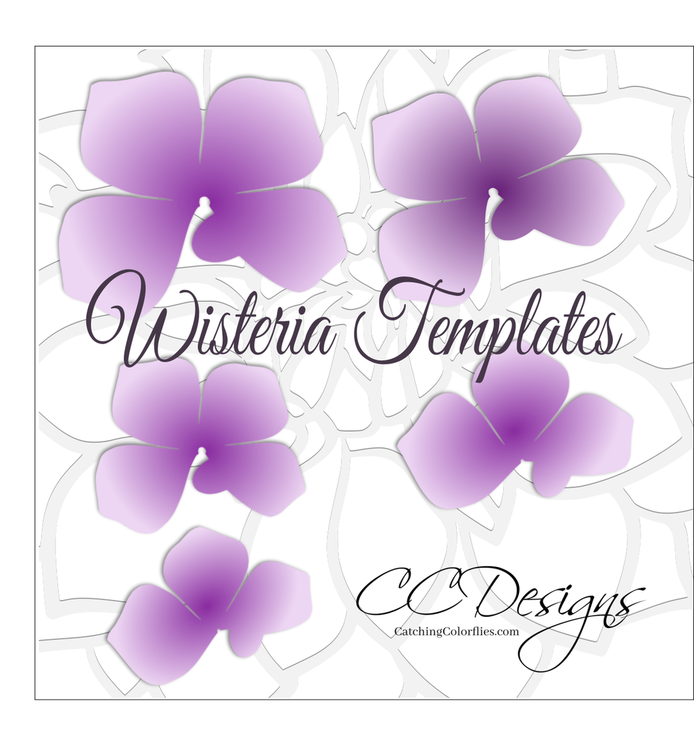 Hanging Paper Wisteria Flower Templates Crafts Paper Flowers Diy