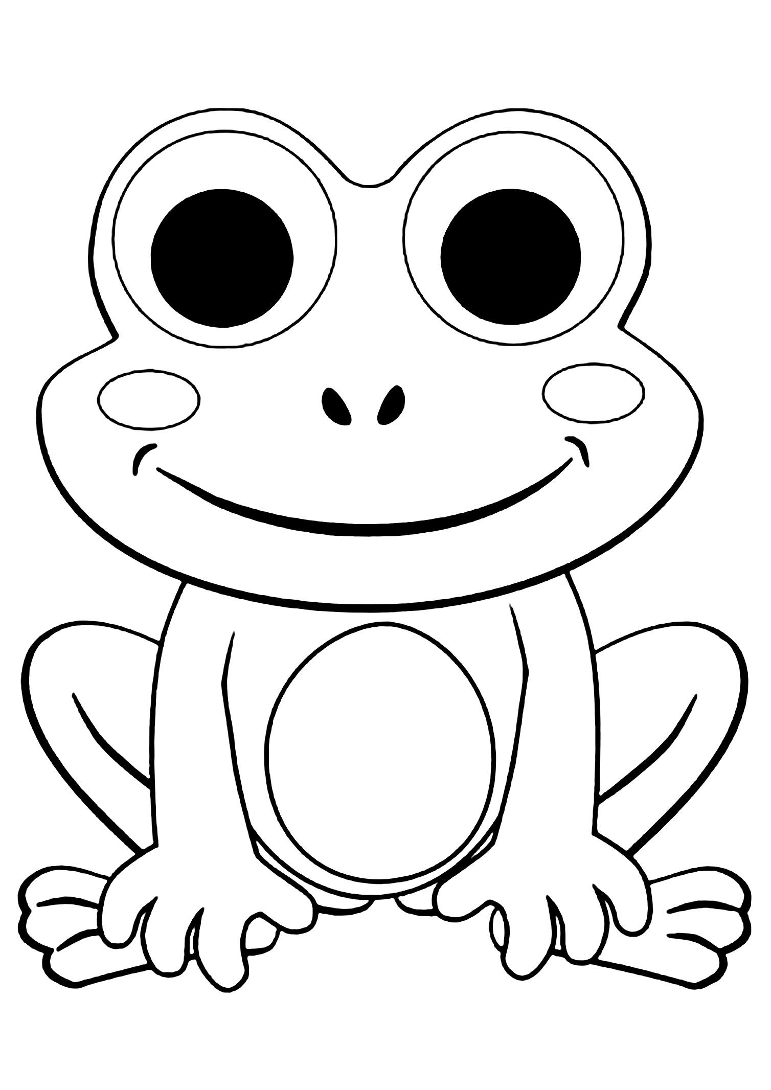 Frogs to print for free Printable Frogs coloring page to