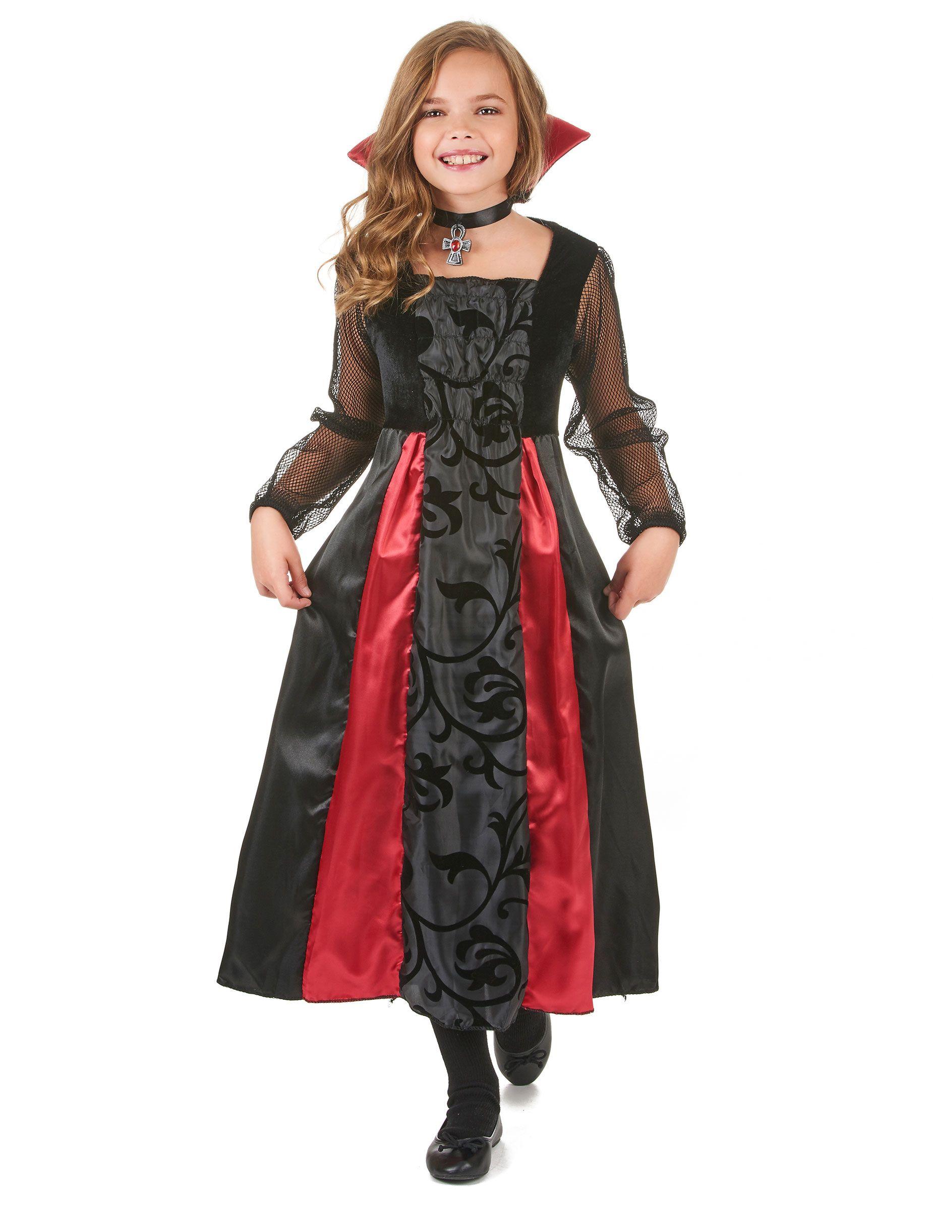 d09c7fa44 Disfraz de vampiro para niña: Este disfraz de vampira para niña está  compuesto de un