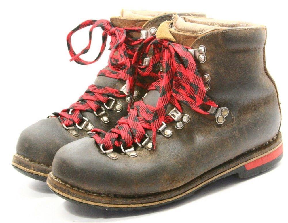 a2cd50e61fa VINTAGE RAICHLE Leather mountain hiking Boots MENS size 8.5 M heavy ...