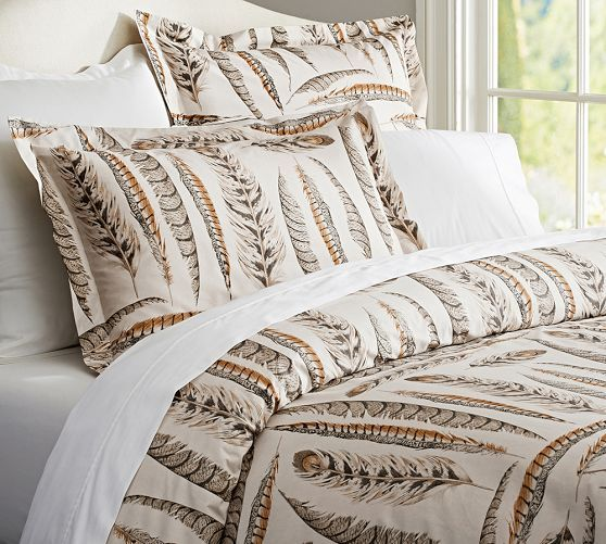 Feather Duvet Cover And Sham Pottery Barn With Images