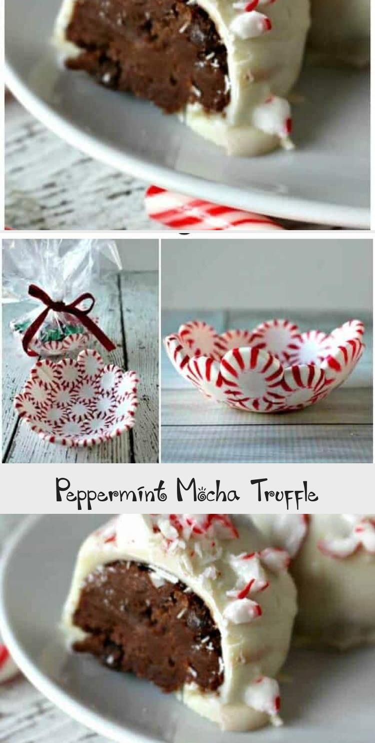 Photo of Peppermint Mocha Truffles – it's like the Starbuck drink in a dessert #winterdes…
