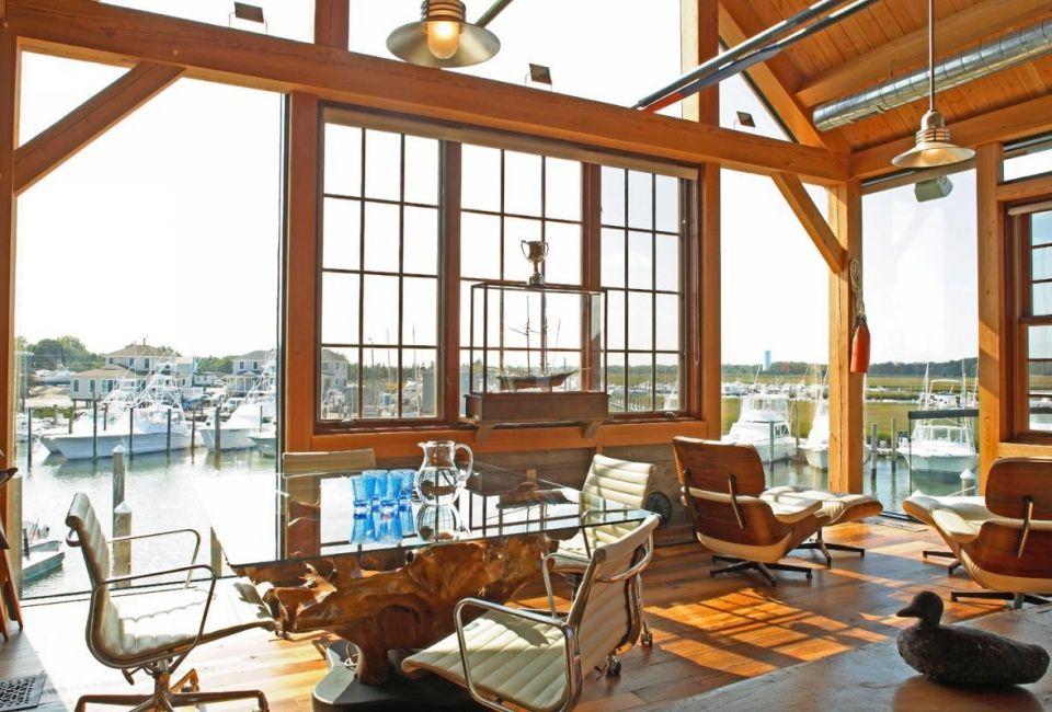 Hugh Lofting Timber Framing Boat House