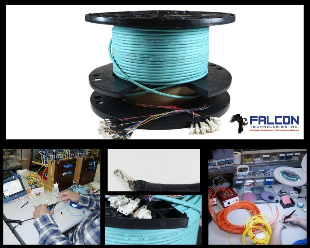 Pre Terminated Fiber Assemblies And Solutions At Falcon Tech Fiber Optic Cable Fiber Optic Fibre Optics