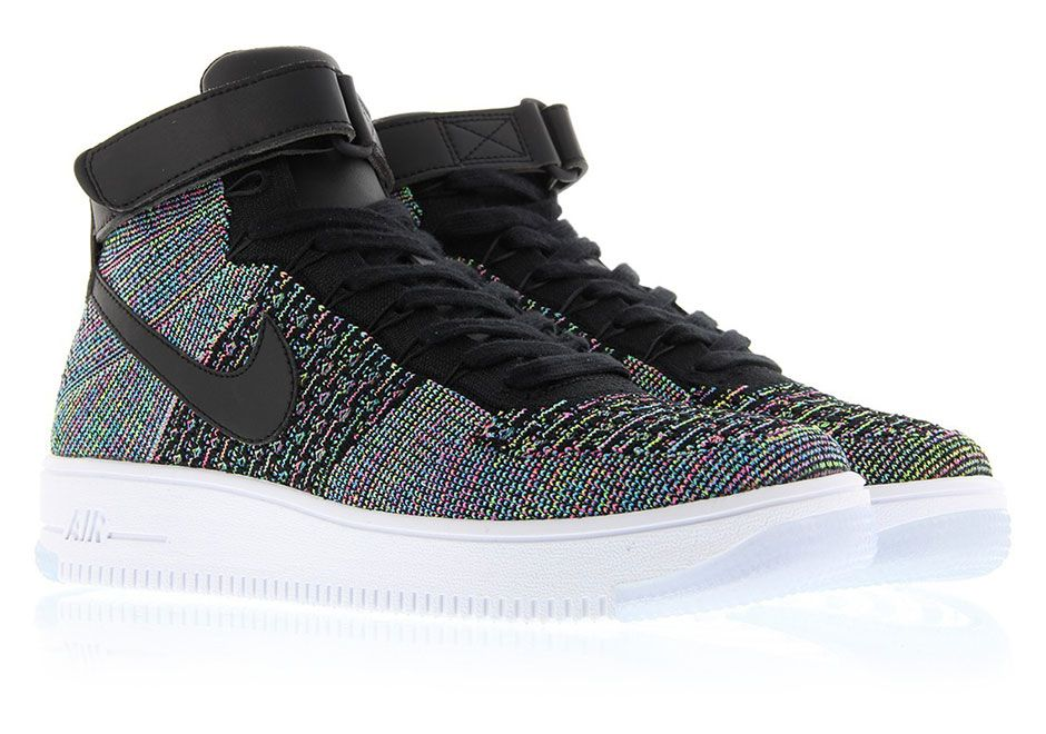 efa1ff0ee0dd Nike Air Force 1 Mid Flyknit Multi Color 2.0 817420-601