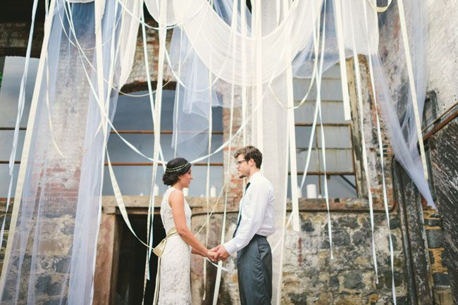 Industrial Wedding | #Wedding #Photography #Bride #Groom #Industrial #Creative #Art | Glass Factory Wedding #Decor #Design