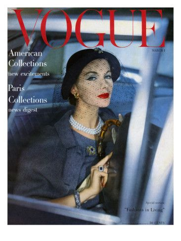 Vogue Cover - March 1957 Poster Print by Clifford Coffin at the Condé Nast Collection