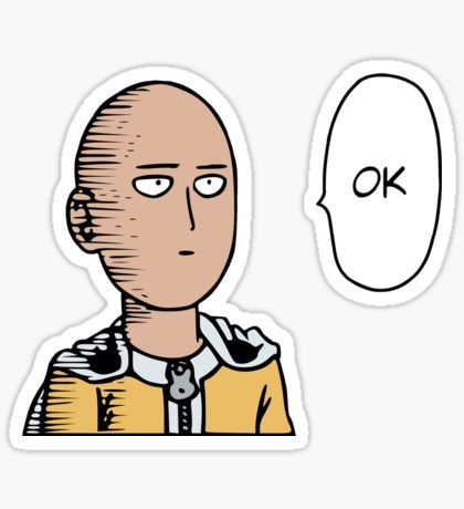 Stickers One Punch Man Anime One Punch Man Funny Saitama One Punch Man