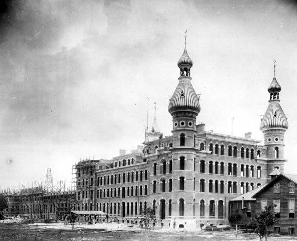 Tampa Bay Hotel During Construction Tampa Florida 1890