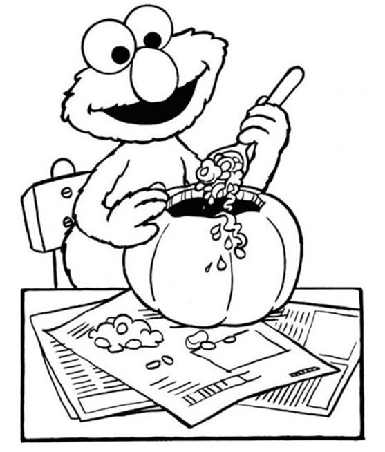 Elmo Coloring Pages Halloween With Images Sesame Street
