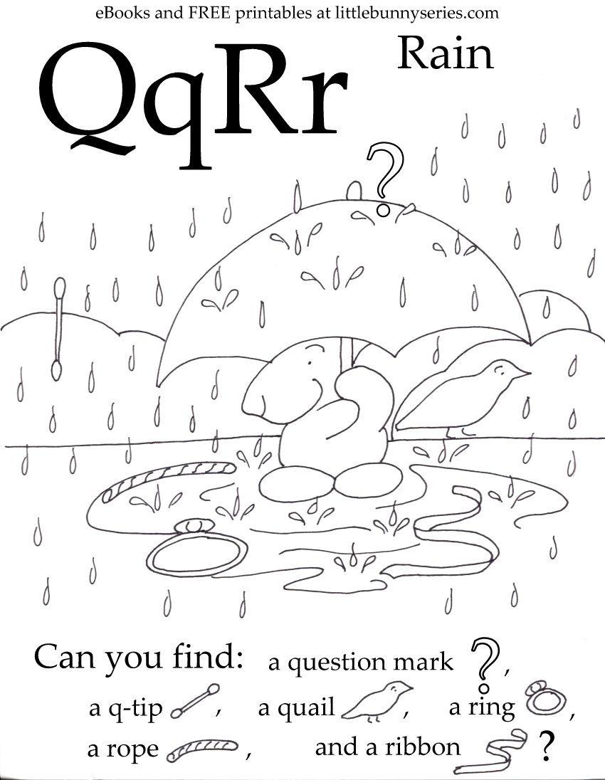 Letters Q, R Seek and Find PDF Fun preschool worksheets