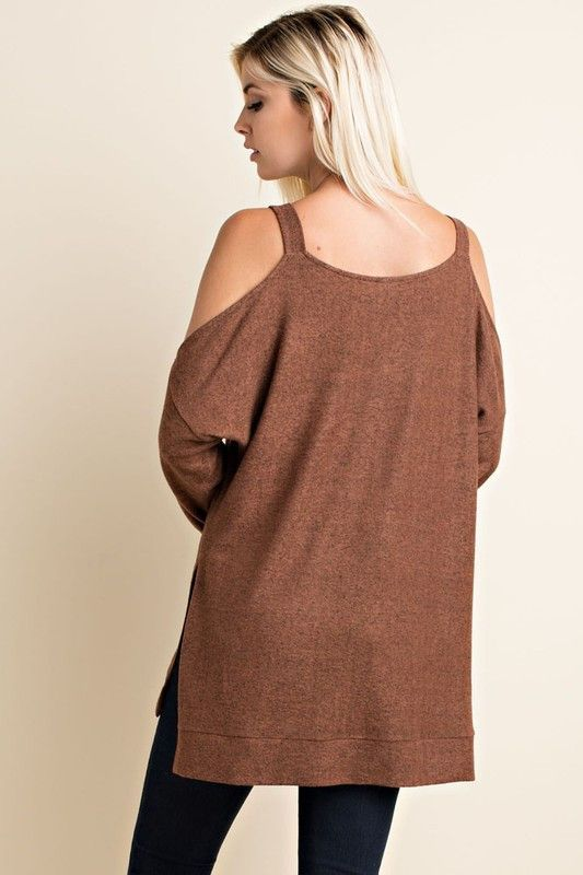 Cold Shoulder Oversized Sweater (Pre-Order) – ROUTE 32 | Shop ...