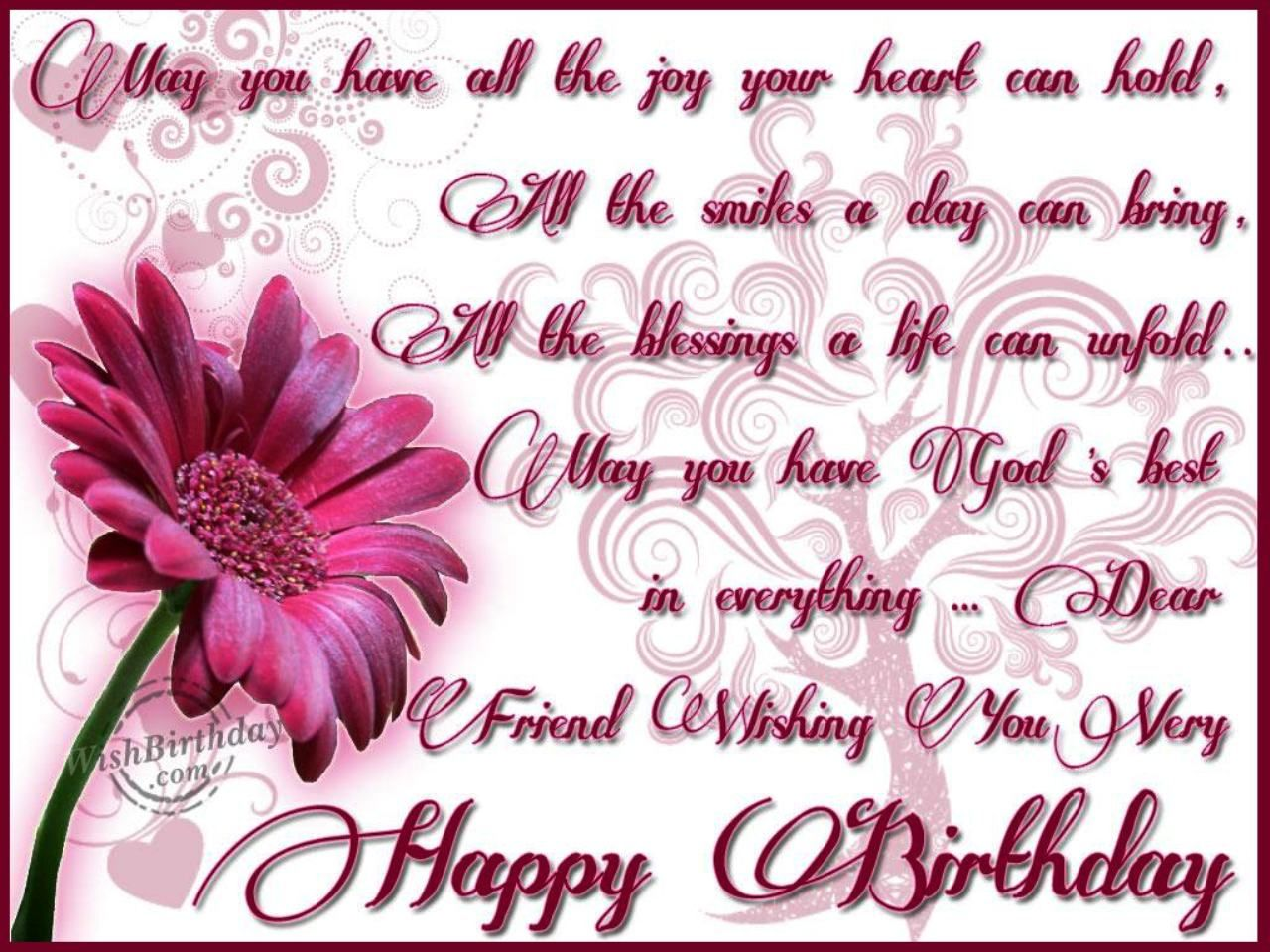Birthday Wishes For Friend | Wallpapers Catalog | Pinterest ...