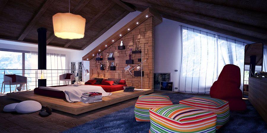 camera da letto in mansarda: 20 idee di arredamento | mondodesign ... - Mansarda Camera Da Letto