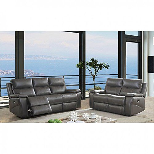 esofastore contemporary reclining sofa loveseat 2pc sofa set living rh pinterest com Reclining Sofa and Loveseat Sets Electric Recliner Sofas and Loveseats