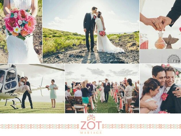 zot mariage coral wedding ceremony mariages by zot