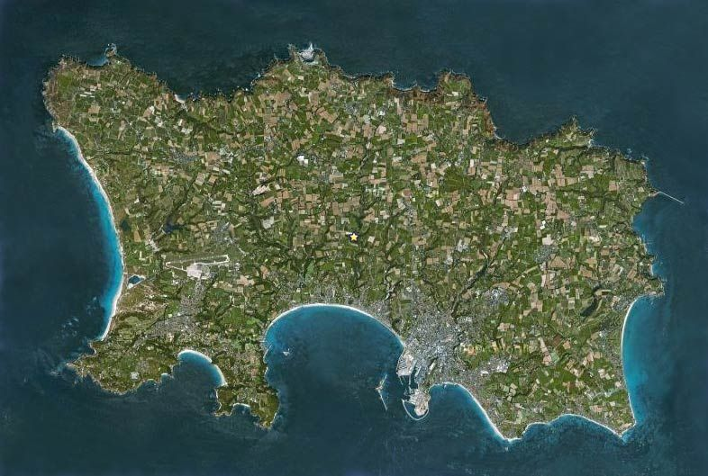 Satellite view of Jersey | Jersey channel islands, Channel ...