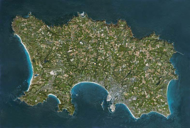 Satellite view of Jersey | Jersey channel islands, Channel islands, Island