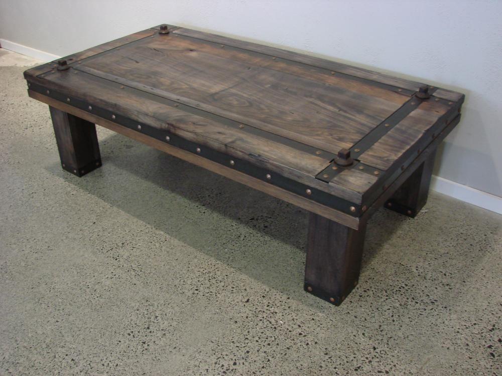 bespoke (custom designed) medieval style blackwood coffee table