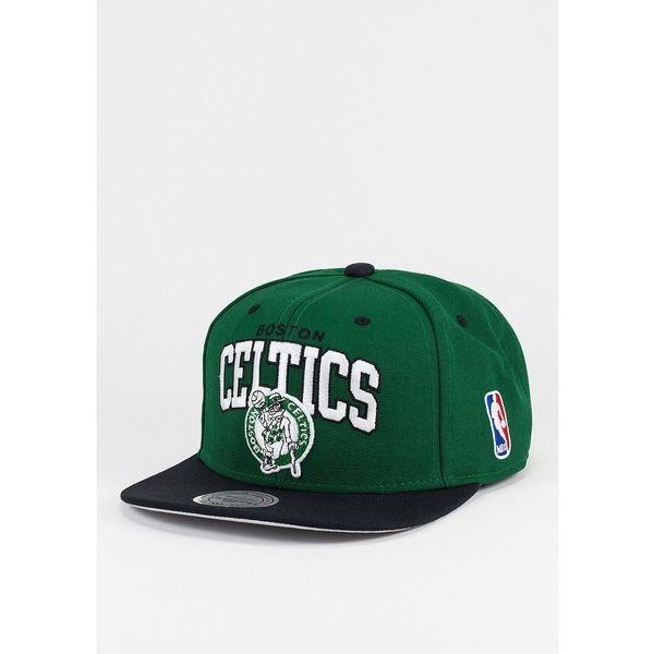 Mitchell /& Ness Shirt HWC Arch Boston Celtics grey