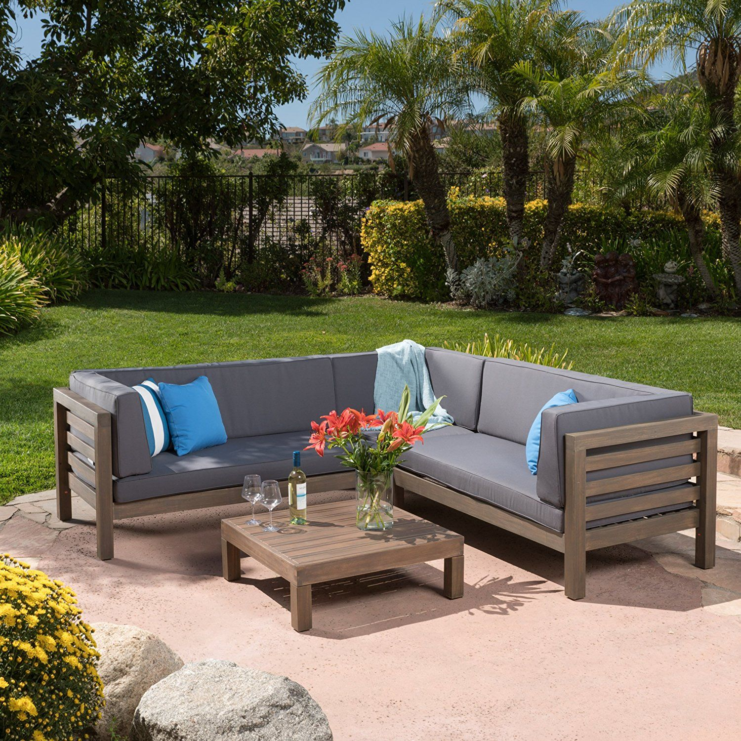 set patio elegant furniture of com w chat parma outdoor luxury wood piece amazon