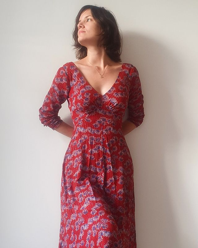 Lune dress with long sleeves