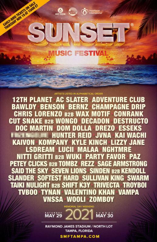 Sunset Music Festival 2021 Sunset Music Festival Festival Music Festival