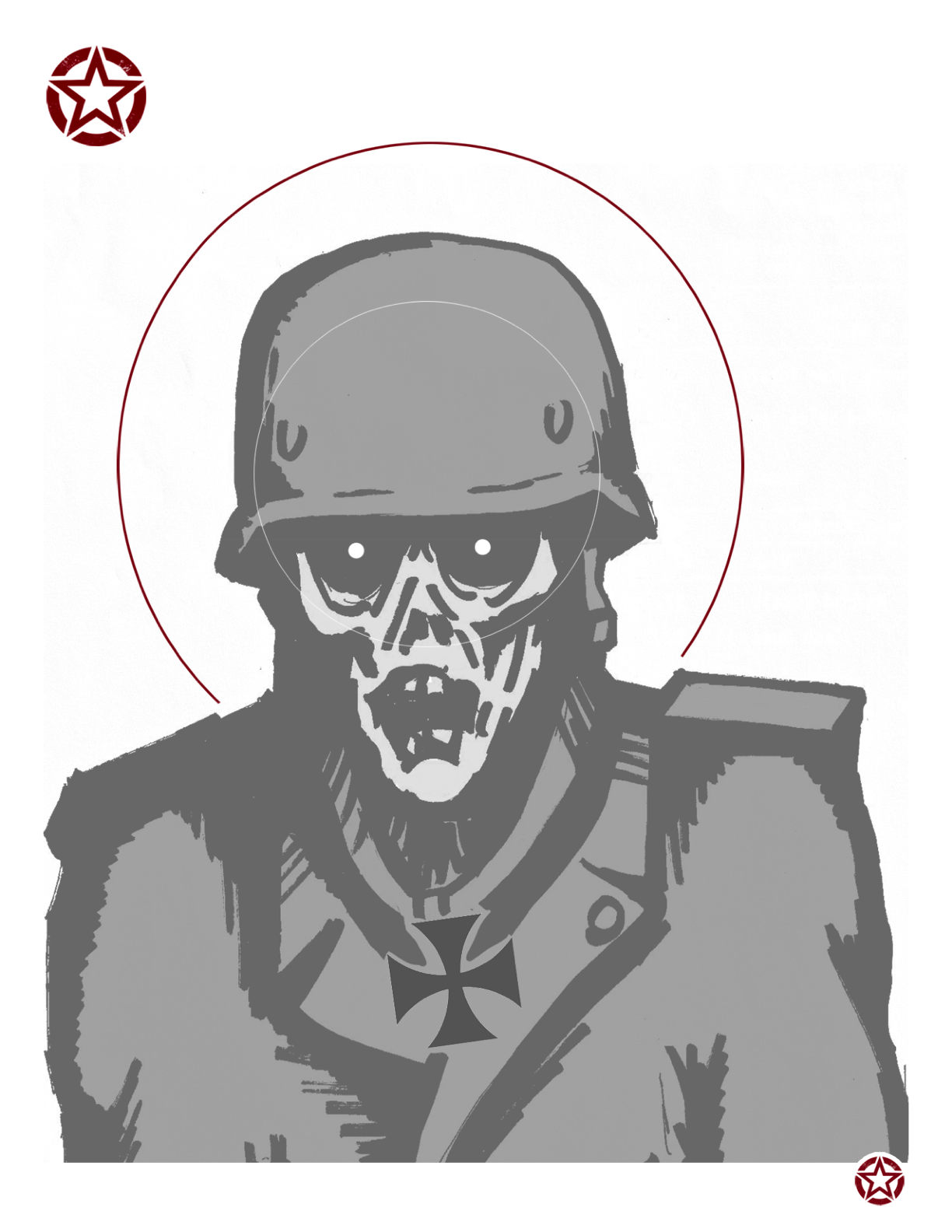 This is an image of Peaceful Zombie Target Printable