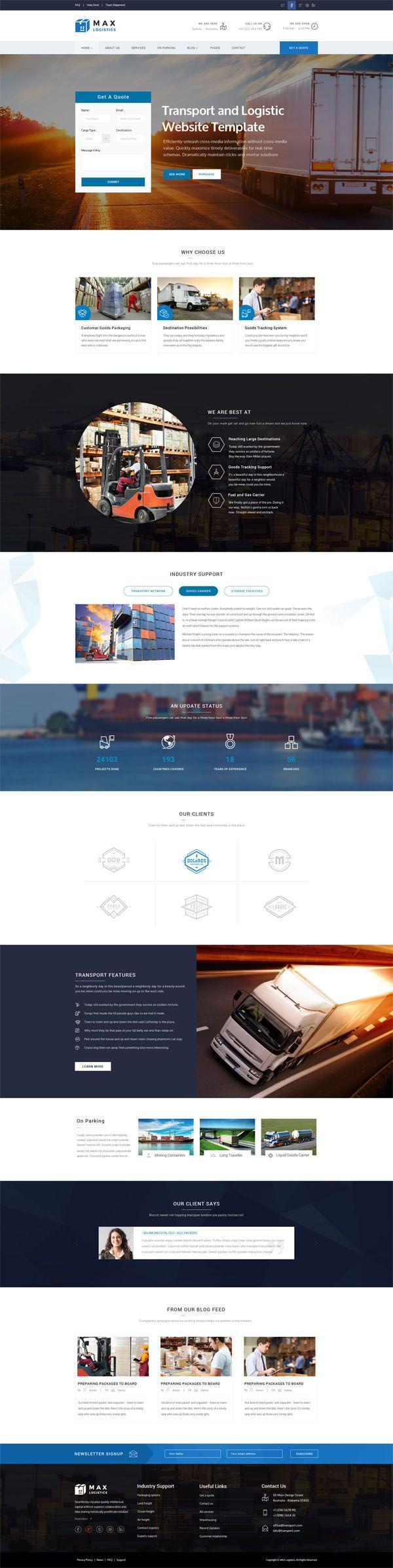 Air Cargo PowerPoint Template | Transportation PowerPoint Templates ...