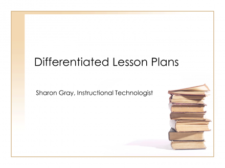 Lesson Plans Template Differentiated Instruction Powerpoint