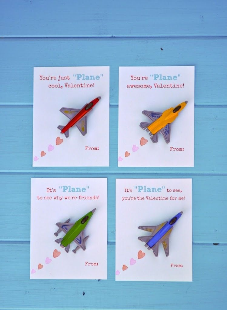 Free Printable Toy Plane Valentines – Make Your Own Valentines Card for Free