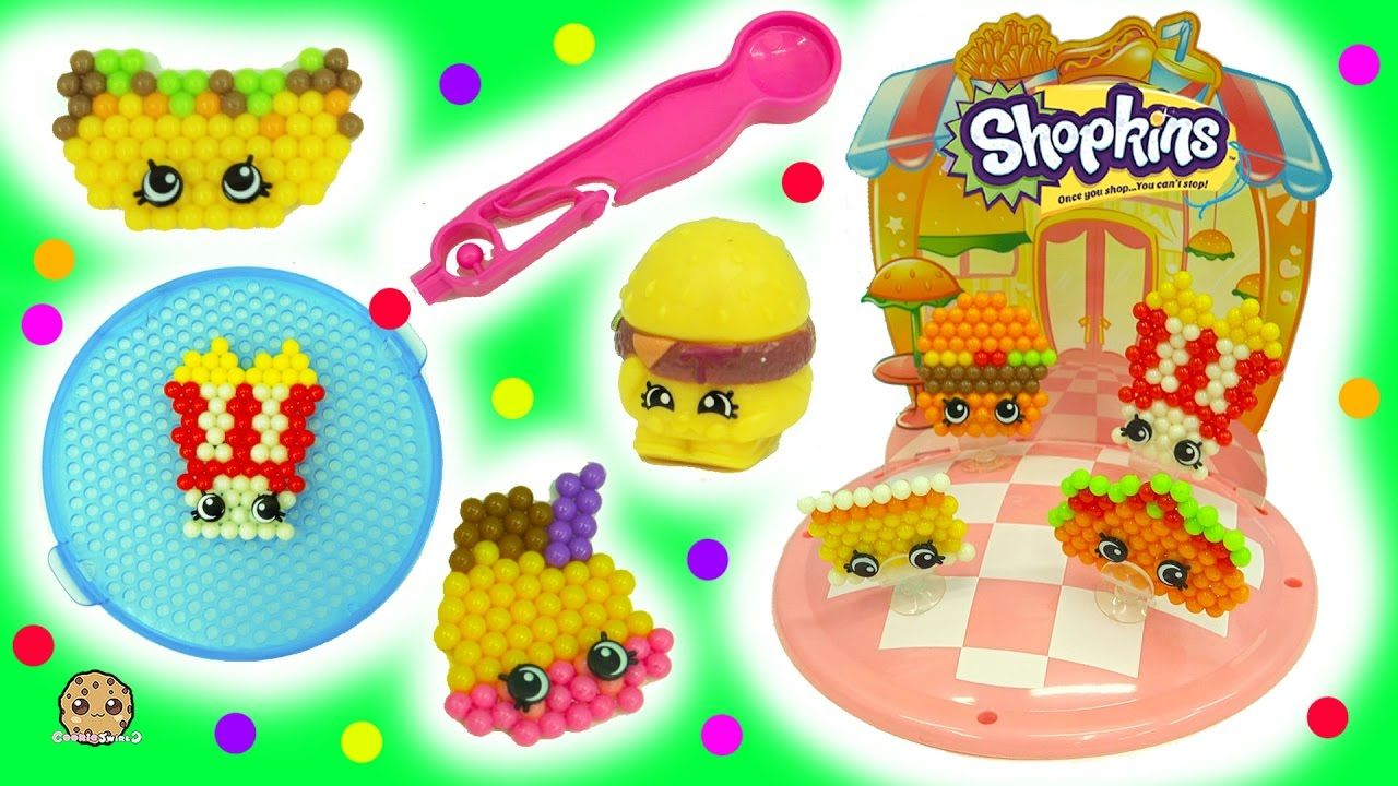 Make Your Own Fast Food Diner Shopkins Beados Water Beads Craft Plays Shopkins Water Beads Create And Craft