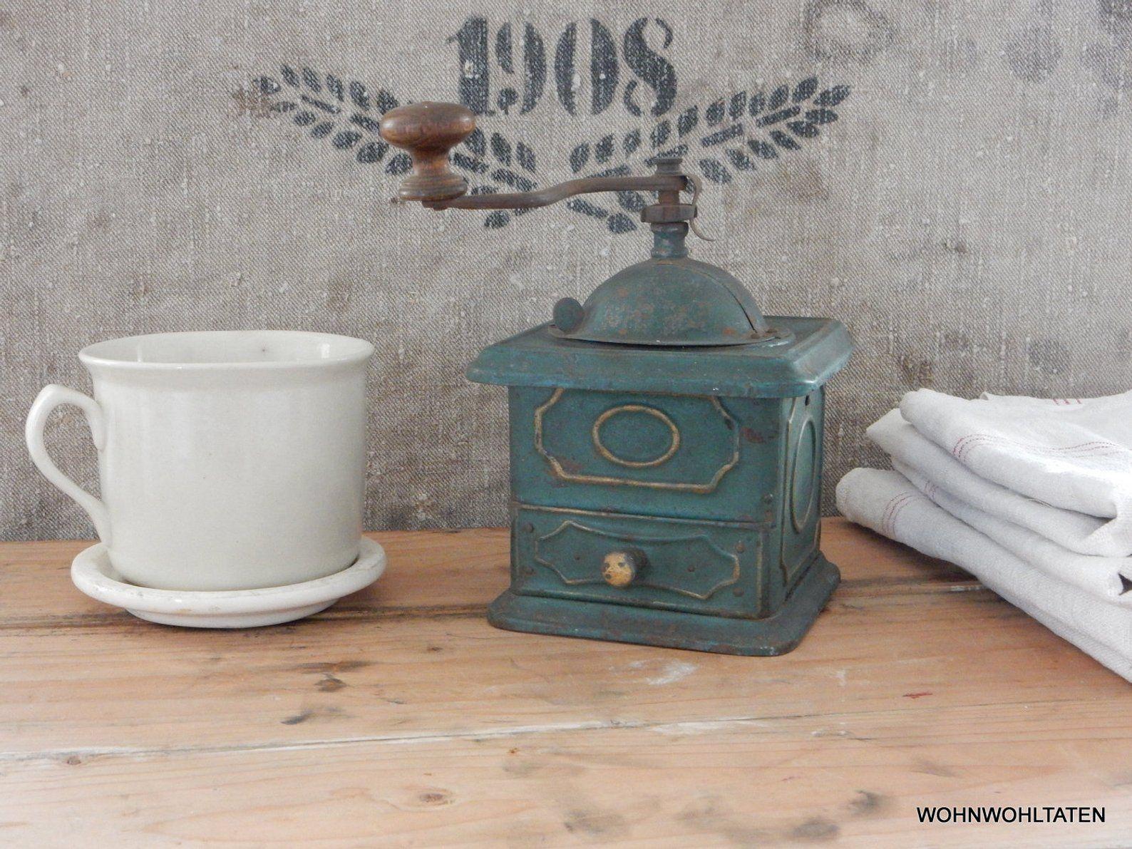 Alte Metall Kaffee Mühle Alte Handmühle Vintage Mühle Old Etsy Vintage Kaffeemühle Etsy
