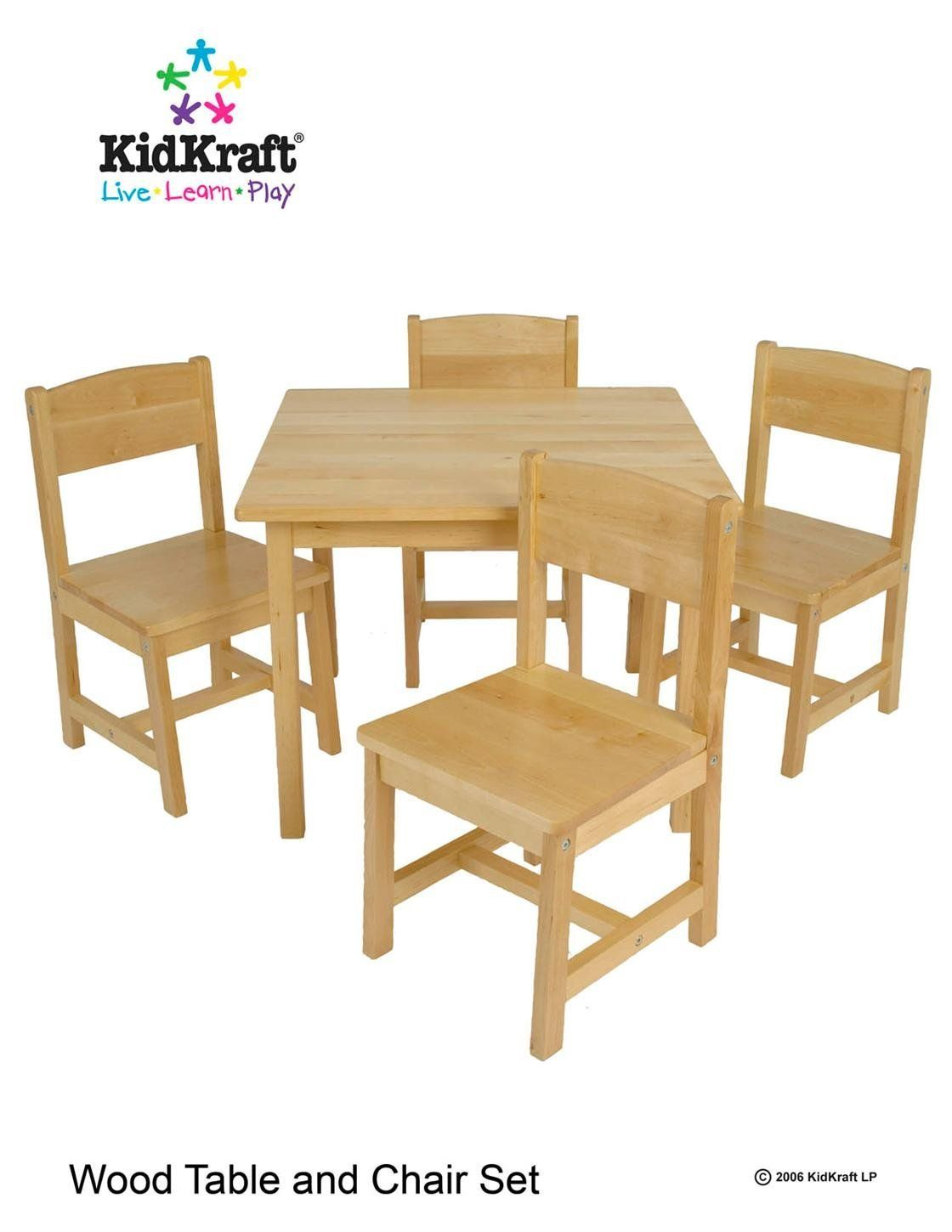 KidKraft Farmhouse Table And Chair Set   Natural: Amazon.ca: Home U0026 Kitchen