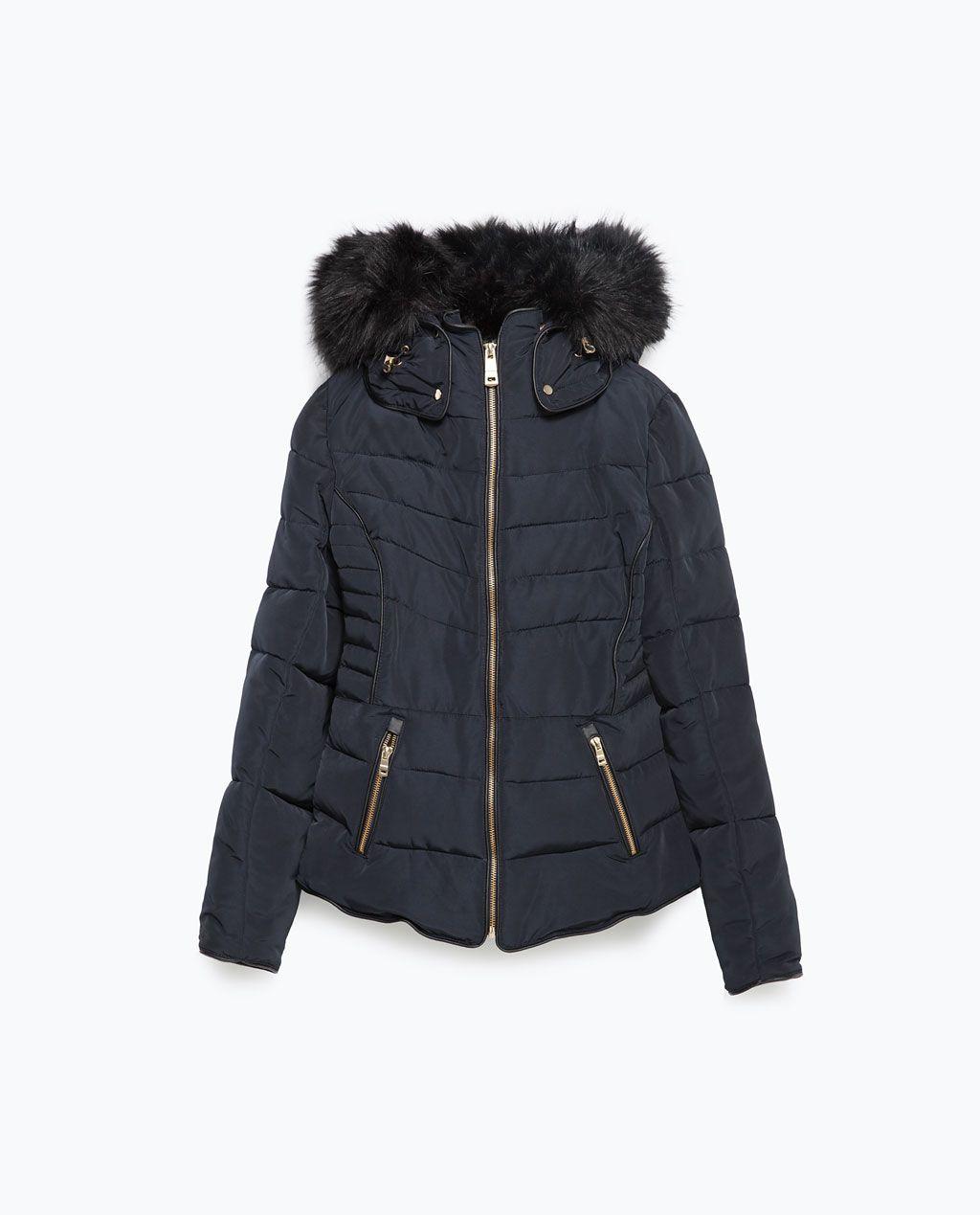 anorak capuche amovible doudounes manteaux femme zara. Black Bedroom Furniture Sets. Home Design Ideas