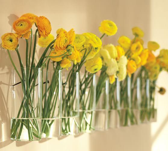 Simple Wall Mount Vase Wall Mounted Vase Flower Vase Design Hanging Glass Vase