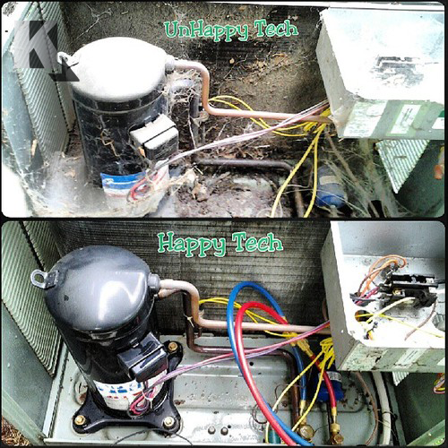 Air Conditioner Repair Photos Refrigeration and air