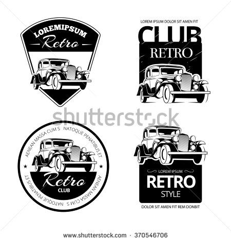 Classic Car Club Logo Template Logos And Cars
