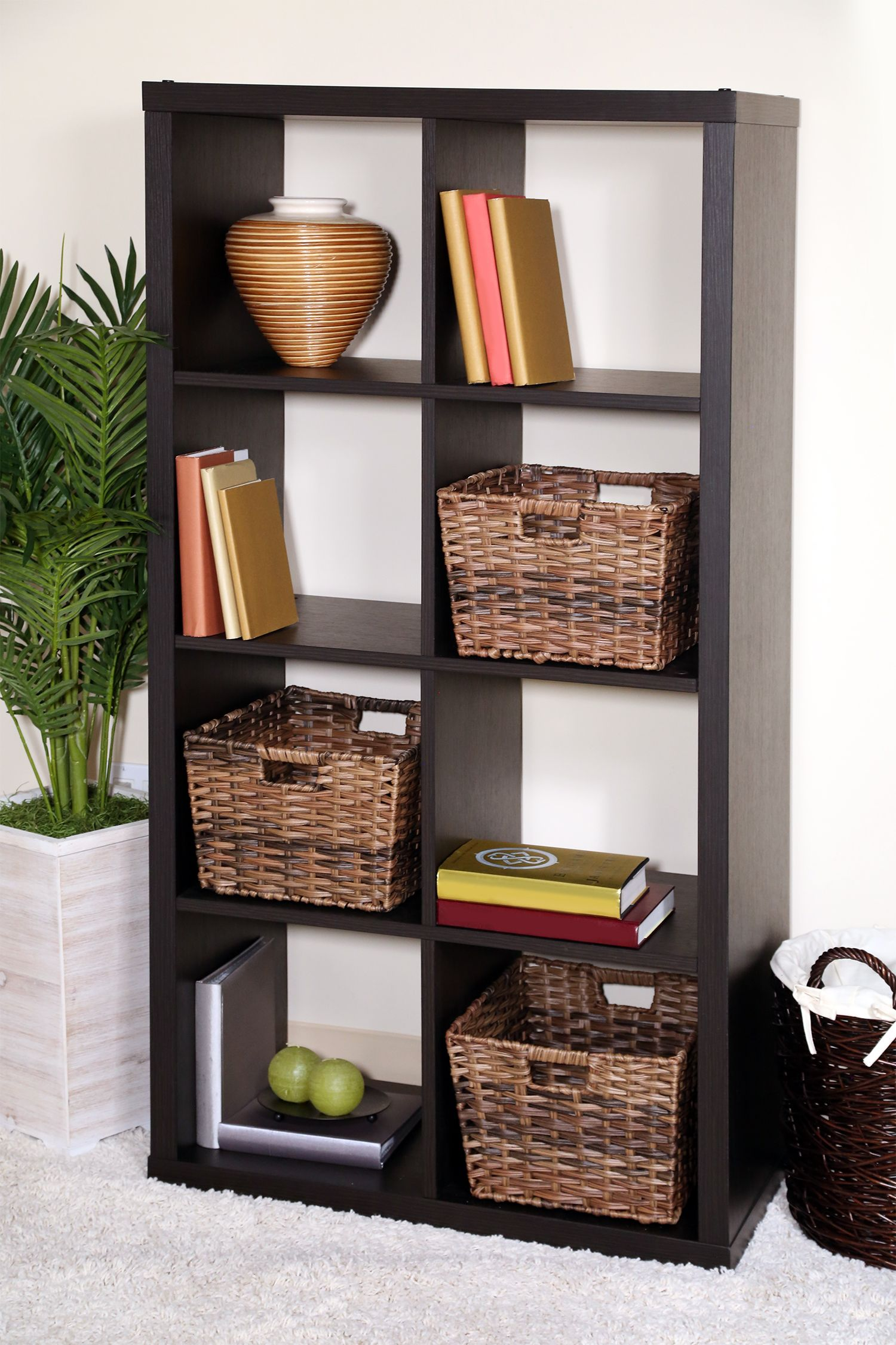 Organize Your Shelves And Storage With The Seville Classics Decorative Woven  Storage Baskets In Mocha.
